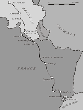 route brussel - zwitserland